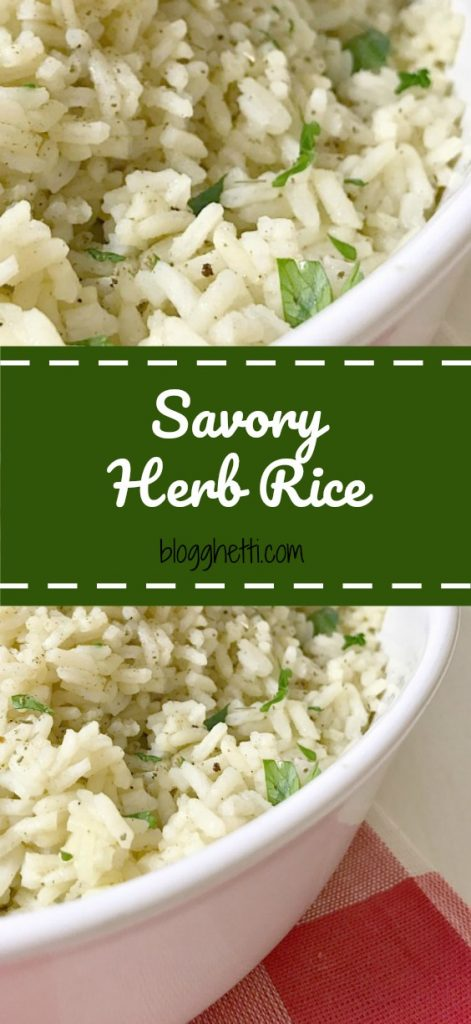 Take ordinary rice to the next level with this Savory Herb Rice recipe; perfect side dish with any meal.
