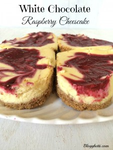 White Chocolate Raspberry Cheesecake Hearts