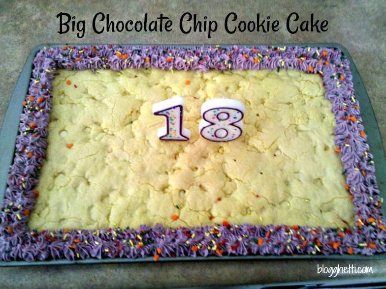 Swell Big Chocolate Chip Cookie Cake Funny Birthday Cards Online Inifodamsfinfo