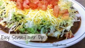 "This recipe for Seven Layer Dip is simple and delicious that turns your favorite ""taco"" toppings into a spicy dip."