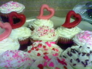 Valentine's Day Brownie Cupcakes