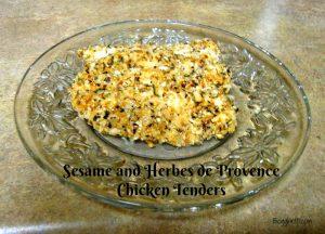 Sesame and Herbes de Provence Chicken Tenders