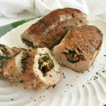 Stuffed Turkey Breast with Feta Cheese and Spinach feature