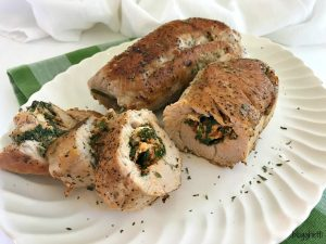 Stuffed Turkey Breast with Feta Cheese and Spinach
