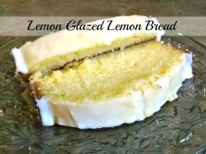 Lemon Glazed Lemon Bread