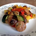 Chicken Sausage with Vegtables