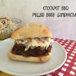 Crockpot BBQ Pulled Beef Sandwiches