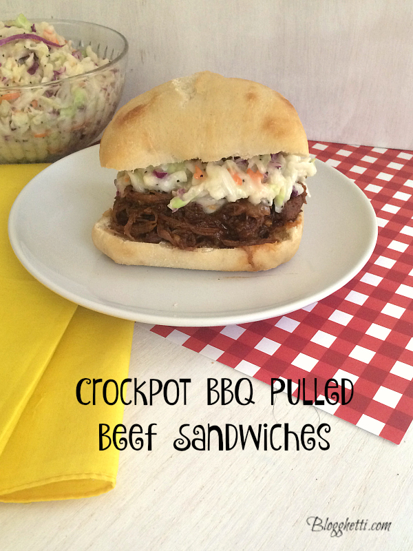 Crockpot BBQ-Pulled Beef Sandwiches