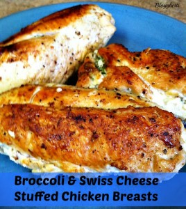Broccoli and Swiss Cheese Stuffed Chicken Breasts