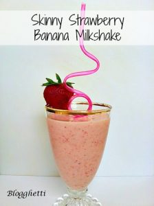 Skinny Strawberry Banana Milkshakes