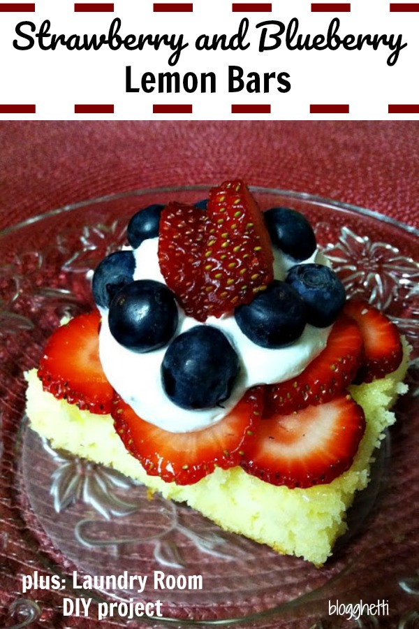 Strawberry and Blueberry Lemon Bars (and a DIY Pinterest project)