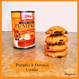 Pumpkin and Oatmeal Cookies