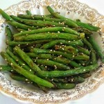 Sesame Roasted Green Beans