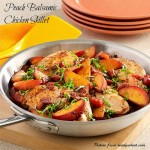 Peach Balsamic Chicken Skillet