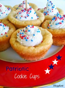 Patriotic Cookie Cups