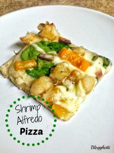 Shrimp Alfredo Pizza