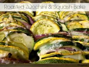 Roasted Zucchini and Squash Bake