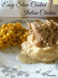 Easy Slow Cooked Italian Chicken
