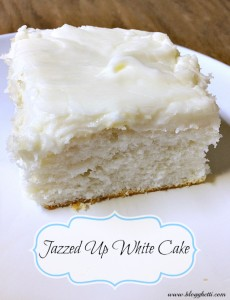 Jazzed Up White Cake