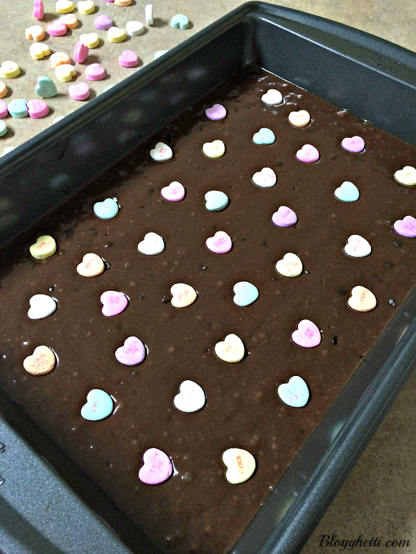 Easy Valentine's Day Brownies Batter