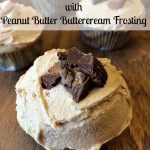 French Vanilla Cupcakes with Peanut Butter Buttercream Frosting
