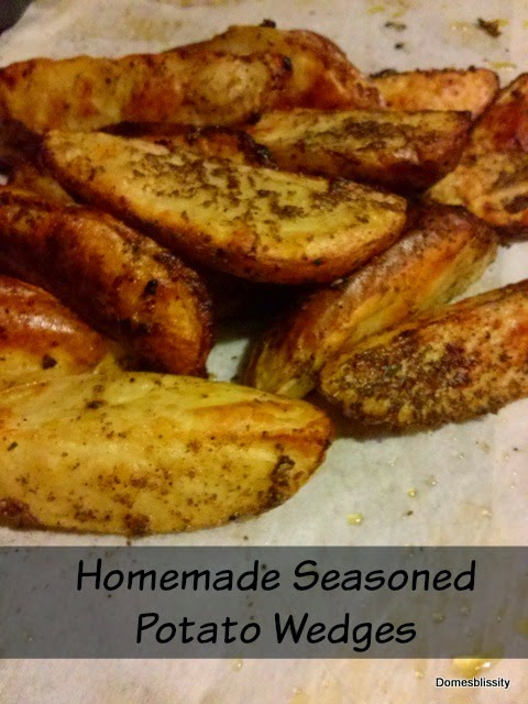 homemade seasoned potato wedges