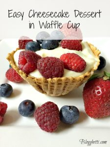 Easy Cheesecake Dessert in Waffle Cup