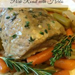 Slow Cooker Pork Roast with Herbs