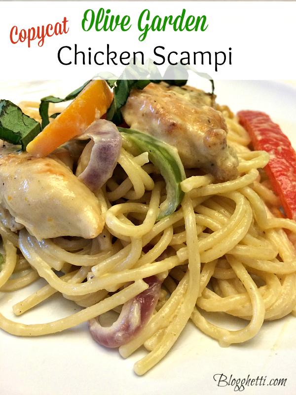 copycat olive garden chicken scampi - Olive Garden Chicken Scampi Recipe