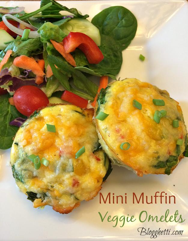 Mini Muffin Veggie Omelets