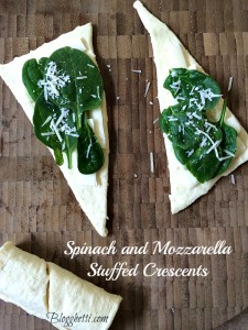 Meatless Monday – Spinach and Mozzarella Stuffed Crescents