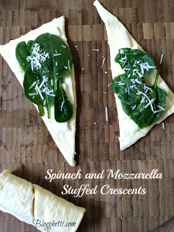 Spinach and Mozzarella Stuffed Crescents