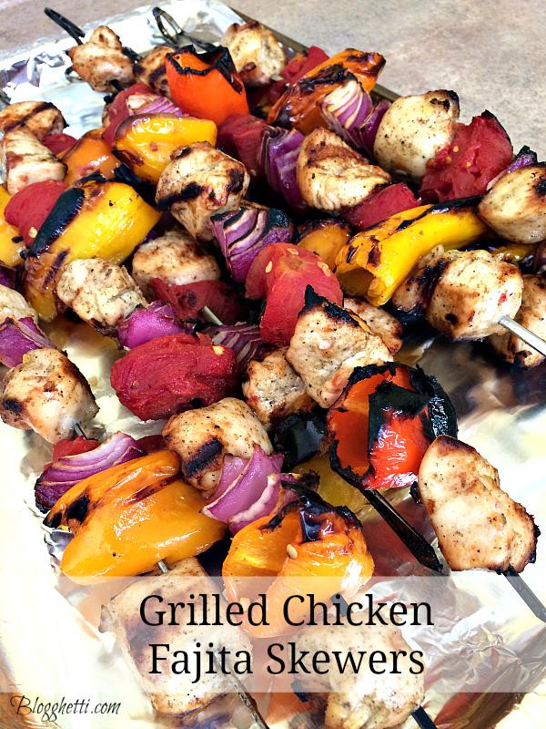 grilled chicken-fajita skewers