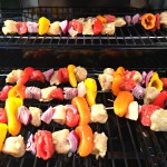 Grilled Chicken Fajita Skewers (and GIVEAWAY!)