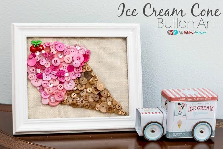 Ice-Cream-Cone-Button-Art