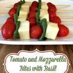Meatless Monday - Tomato and Mozzarella Bites with Basil