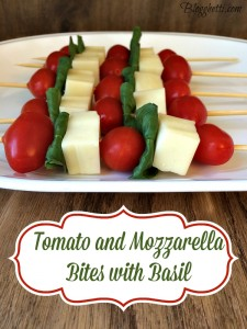Meatless Monday – Tomato and Mozzarella Bites with Basil