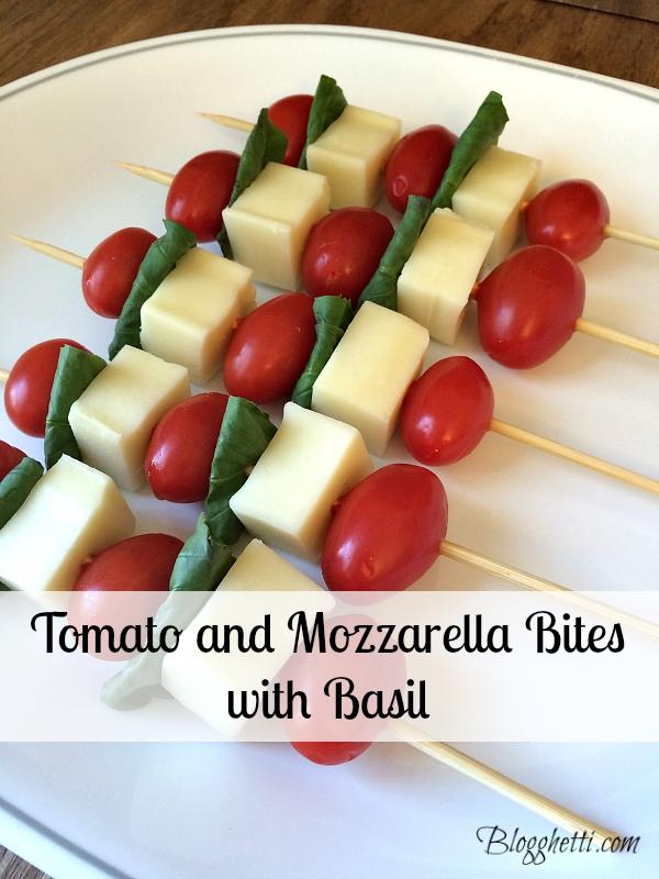 tomato and mozzarella bites