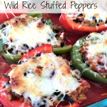Meatless Mondays - Wild Rice Stuffed Peppers