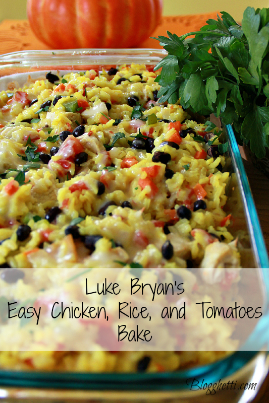 Luke Bryans Chicken-Rice-Tomato-Bake
