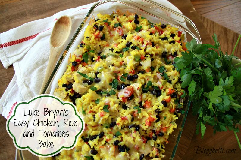 Luke Bryan's Easy Chicken, Rice, and Tomato Bake