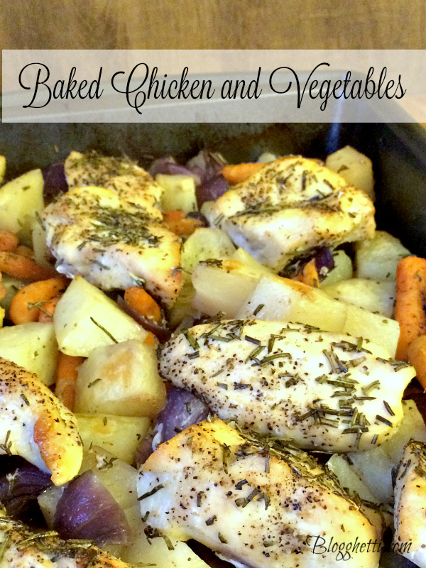 One Pan Baked Chicken and Vegetables