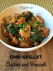 One Skillet Chicken and Broccoli