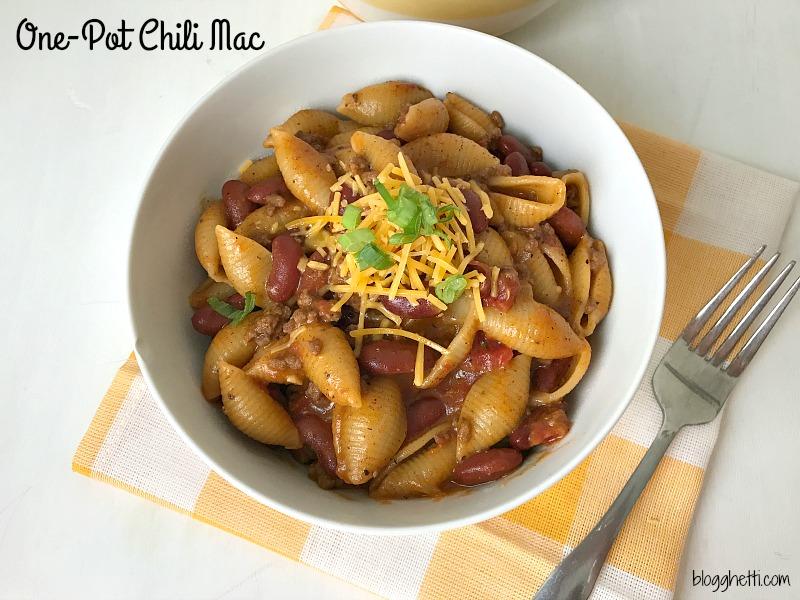 One-Pot Chili Mac #onepot #chili #pasta
