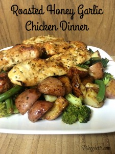 Roasted Honey Dijon Garlic Chicken & Vegetables