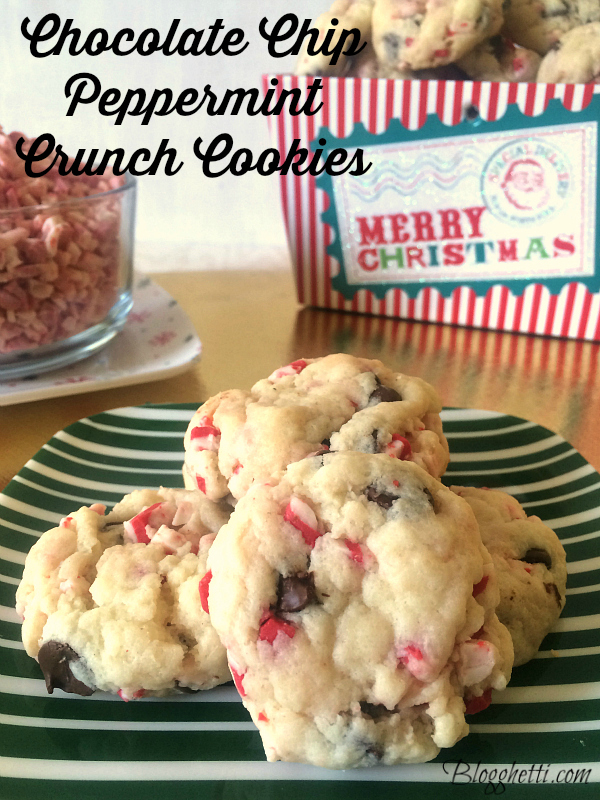 Chocolate Chip Peppermint Crunch Cookies