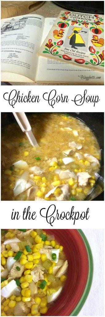 Chicken Corn Soup in the Crockpot1