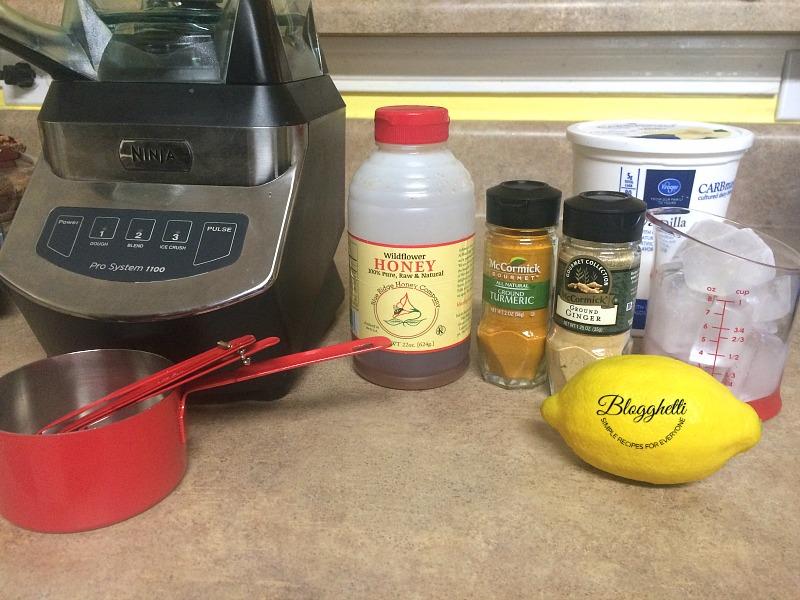 lemony lemon smoothie ingredients
