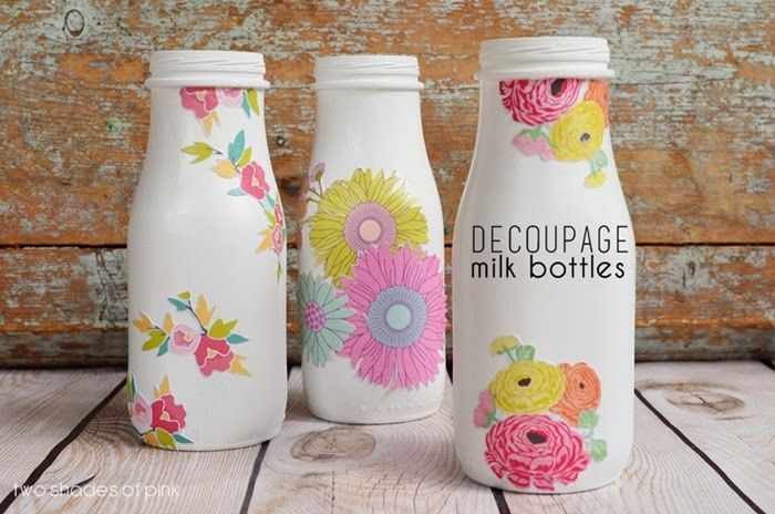 Eighteen 25 - decoupage bottles