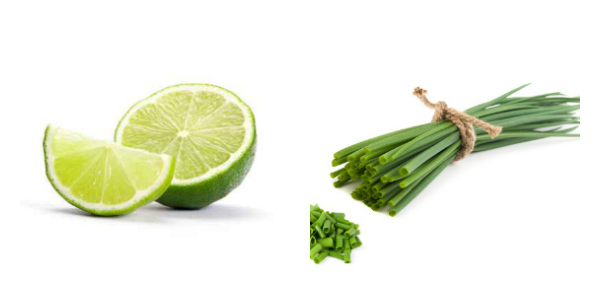 limes and chives